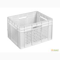Пищевой пластиковый ящик 433х347х283 (кубик)