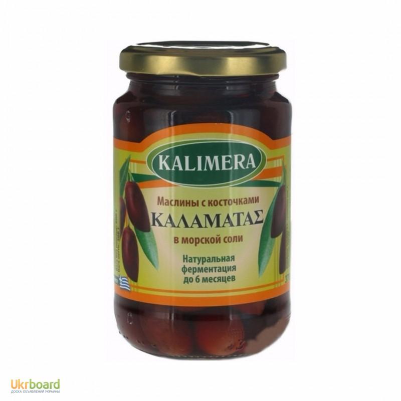 Фото 2. Маслины, оливки Kalimera / Калимера, сорт Каламата / Каламатас, 370мл