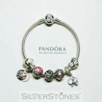 Оригинал Pandora Пандора шарм клипса Цветущий георгин арт. 791828NBP
