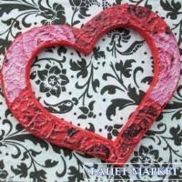 Декоративное сердце Розочное