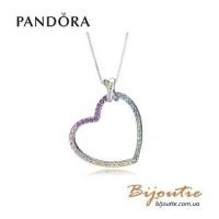 Колье Pandora - радуга любви 397070NRPMX-60 оригинал