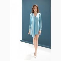 Женское платье небесно-голубого цвета от DZAN