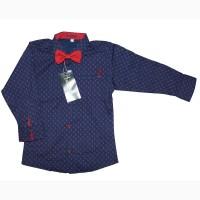 Рубашки для мальчиков с бабочкой, Турция, возраст 2-5 лет, цвета разные