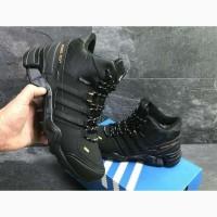 Кроссовки черные Adidas Terrex 465 Black Orange черные зимние с мехом реплика