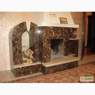 Камин из натурального камня в интерьере камин из мрамора в Киеве и Украине