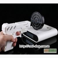 Будильник мишень, купить в подарок будильник, будильник пистолет с мишенью