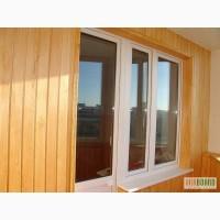 Обшивка балкона пластиковой и деревянной вагонкой, утепление, откосы киев