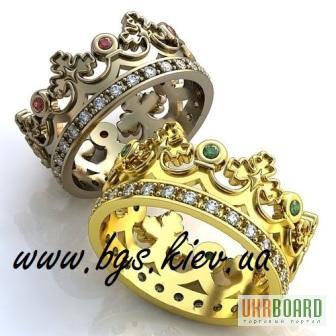 5db7d6fb28b4 Обручальные кольца Корона (в форме короны) Carrera y Carrera (Каррерк и  Каррера)