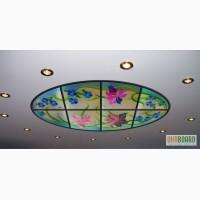 Витражные светильники для ниш, потолка. Светильники витражные напольные и ландшафтные