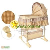 Детская кровать-люлька м 1542 с качалкой