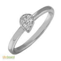Золотое кольцо с бриллиантами 0,10 карат 17,5 мм. НОВОЕ Натуральные бриллианты!