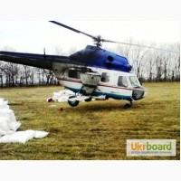 Подкормка озимой пшеницы, тритикале и рапса - услуги вертолета