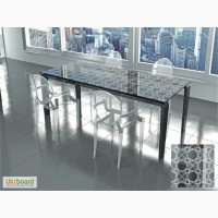 Стеклянные столы, столешницы с рисунком