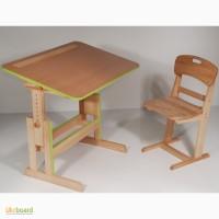 Парта растущая, стол и стул Школьник