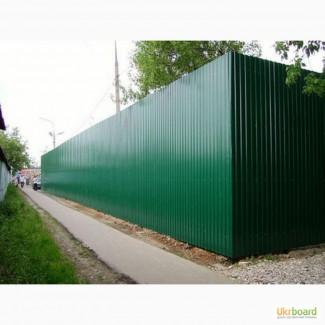 Купить зеленый RAL6005 профнастил, зеленый профлист цена