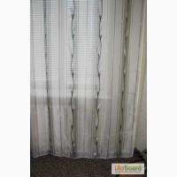 Тюль, цвет белый, серебряные листики, готовое изделие, размер 170 х 260 см