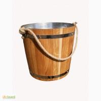 Продам Ведро дубовое - 12 литров( с металлической вставкой)