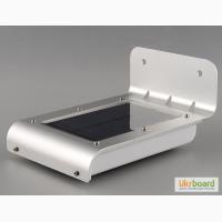 Светильник на солнечной батарее 16 светодиодов LED c датчиком движения, фонарь