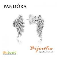 Оригинал серьги-пусеты PANDORA волшебные крылья 290581CZ
