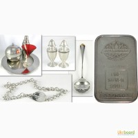 Купим серебро в изделиях и в виде лома Харьков