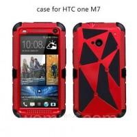 HTC 801 ONE M7 Оригинальный МЕТАЛЛИЧЕСКИЙ чехол бампер PEPPE RED