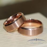 Американка Парные кольца для влюбленных из нержавеющей медицинской стали. кольцо