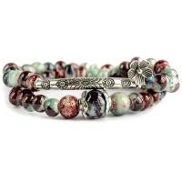 Продам Женский браслет в этническом стиле с амулетом цветка Лотос