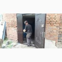 Двухстворчатые входные металлические двери. Кривой Рог
