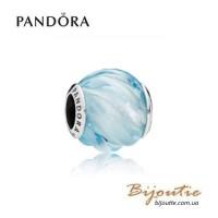 Шарм PANDORA голубой прибой ― Бусина 797098NAB оригинал