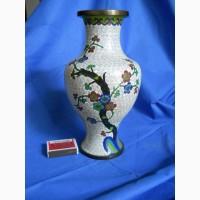 Китайская ваза клуазоне (перегородчатая эмаль) сакура