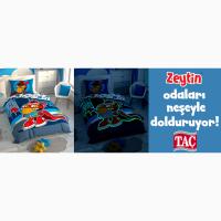 Детская постель светится подростковый комплект tac zeytin ранфорс / простынь на резинке