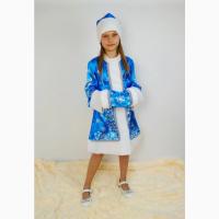 Детский новогодний костюм Снегурочки для девочек 3-10 лет
