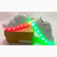 Новые детские кроссовки со светящейся LED подошвой 28 Киев