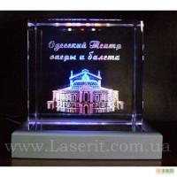 3D гравировка в стекле