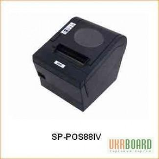 POS 88 V чековый принтер с автообрезкой, термопринтер чеков до 80 мм, кухонный принтер