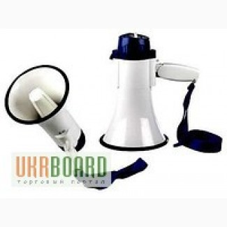 Мегафон, громкоговорители рупор підсилювач звуку уселитель звука