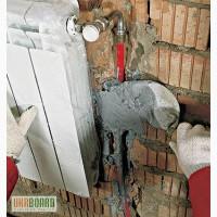 Монтаж, подключение радиатора отопительного (батареи)