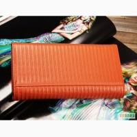 Продается элегантный женский кошелек Feger (оранж) из натуральной кожи, на кнопке