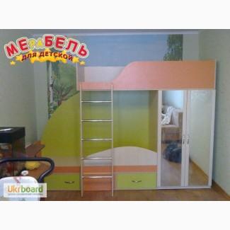 Детская двухъярусная кровать со шкафом (а4) Merabel