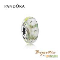Оригинал PANDORA шарм мурано полевые цветы 791638CZ