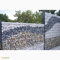 Забор из камня, профнастил под камень