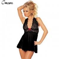 Женское ночное белье черное