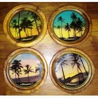 Сувенирные подставки под стакан, чашку Гавайи