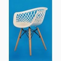 Кресло Viko (Вико) пластик (белый, антрацит, бежевый, серый) ножки деревянные