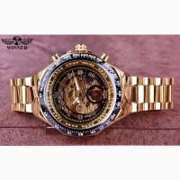 Winner механические дизайнерские часы, новые