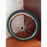 Вело колёса на двойном ободе 20 дюймов на усиленной спице 3мм с покрышкой с камерой