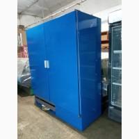 Холодильный шкаф Cold б у, глухой двухдверный шкаф холодильный б/у