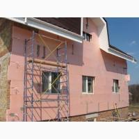 Утепление фасадов частных домов, складов, жилых и нежилых зданий