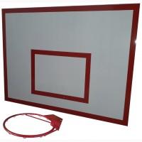 Баскетбольный щит металл 0, 9м. х1, 2м. с кольцом