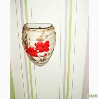 Продам настенную вазу для цветов (керамика советского производства)